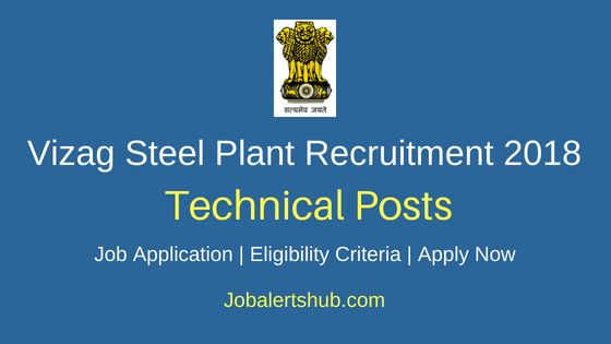 Vizag Steel Plant Technical Posts Job Notification