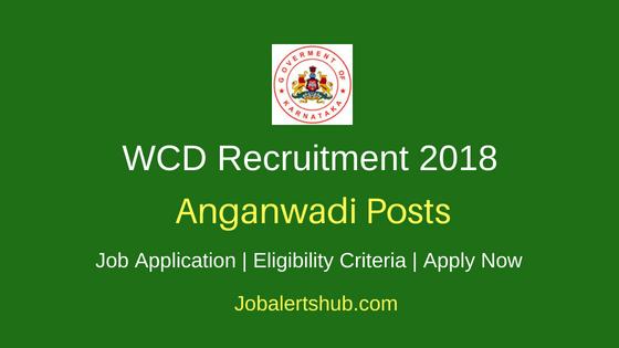 Karnataka WCD Anganwadi Recruitment Notification
