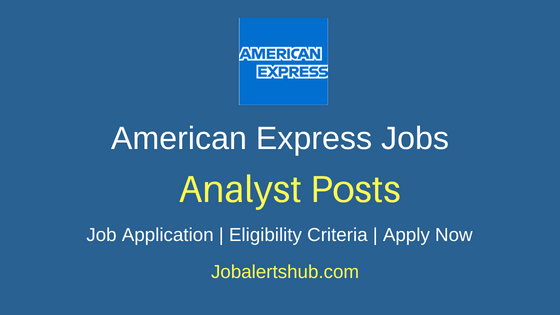 American Express Analyst Job Notification
