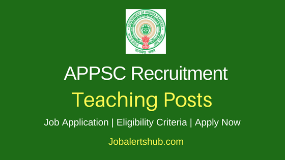 APPSC Teaching Job Notification