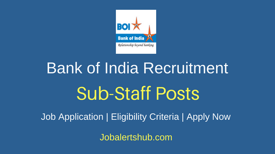 BOI Sub Staff Job Notification