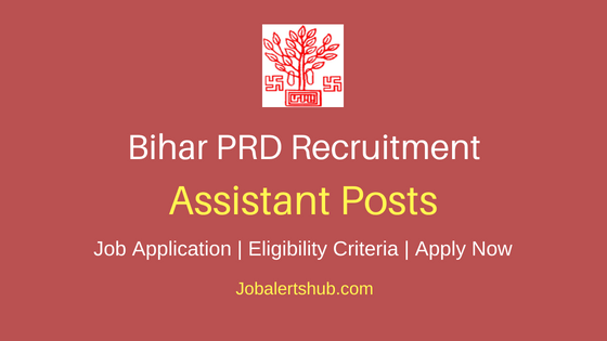 Bihar Panchayati Raj Department Assistant Job Notification