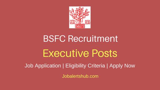 BSF Executive Job Notification