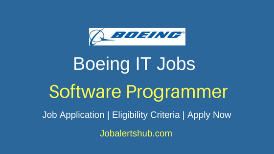Boeing India Private Limited Software Programmer Job Notification