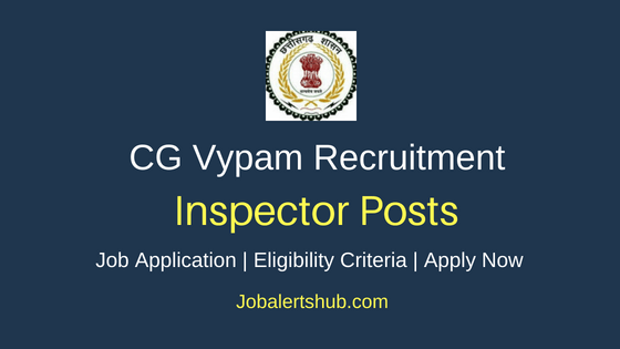 CG Vypam Inspector Job Notification