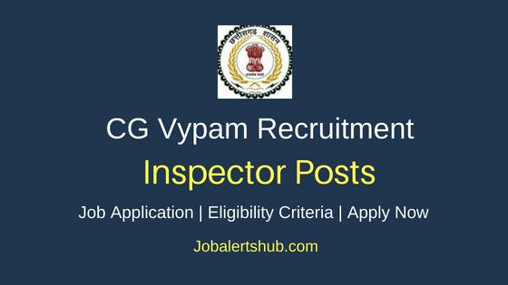 CG Vypam Inspector Job Notification