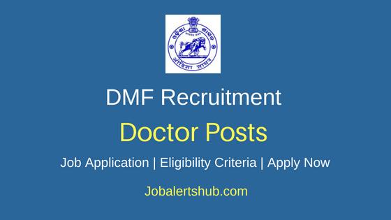 DMF Doctor Job Notification