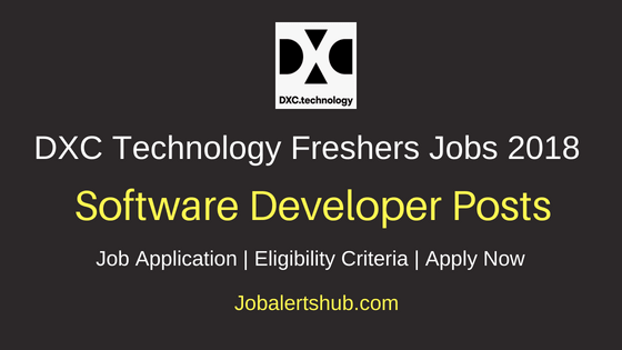 DXC Technology Software Developers Recruitment Notification