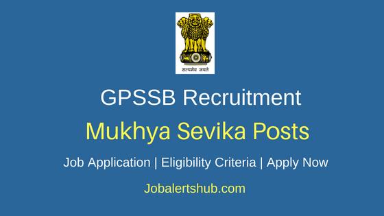 GPSSB Mukhya Sevika Job Notification