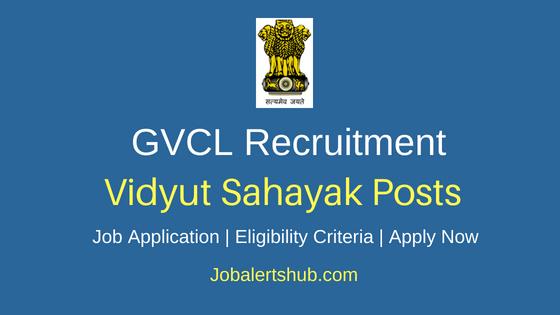 Gujarat Vij Co Ltd Vidyut Sahayak Job Notification