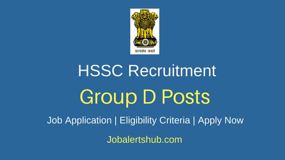 HSSC Group D Job Notification
