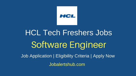 HCL Technologies Software Engineer Job Notification