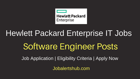HPE Software Engineer Job Notification