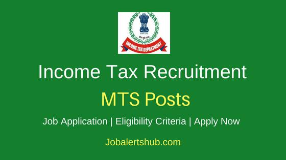 Income Tax Staff Stenographer, Tax Assistant 2019 Jobs
