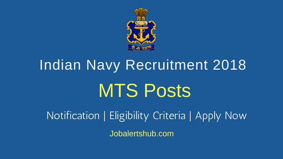 Indian Navy MTS Recruitment Notification