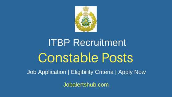 ITBP Constable Job Notification