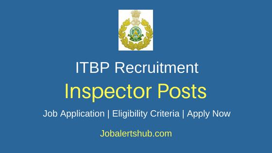 ITBP Inspector Job Notification