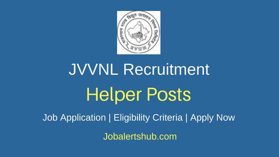 JVVNL Helper Job Notification