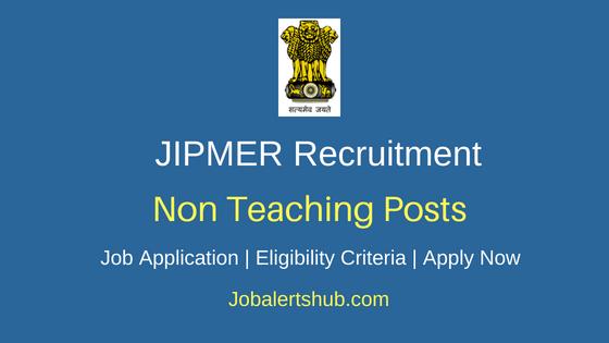 JIPMER Non Teaching Job Notification