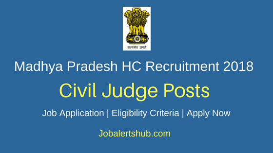 MP High Court Civil Judge Recruitment Notification