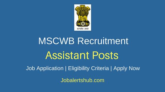 MSCWB Assisatnt Job Notification