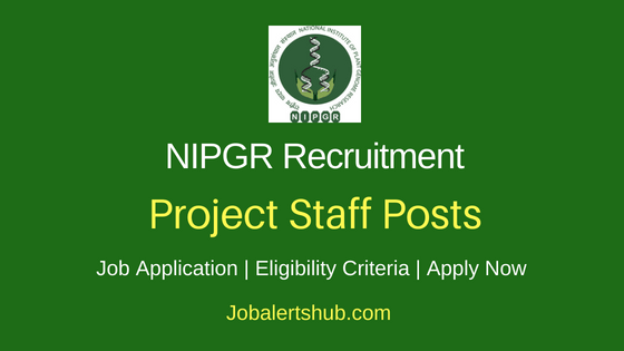 NIPGR Project Staff Job Notification