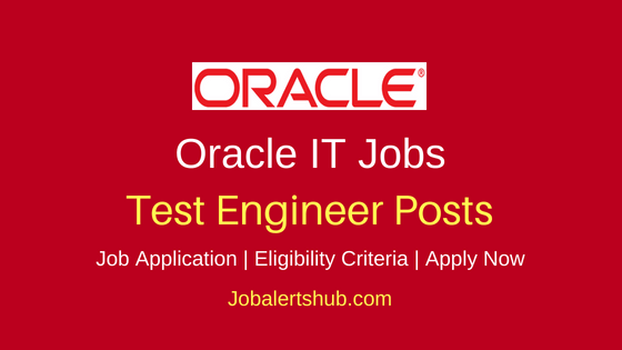 Oracle Test Engineer Job Notification