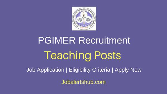 PGIMER Chandigarh Teaching Job Notification