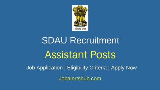 SDAU Assistant Job Notification
