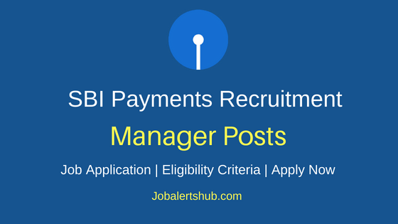 SBIPSPL Manager Recruitment Notification