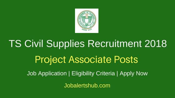 Telangana Civil Supplies Department Project Associate Recruitment Notification