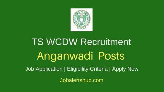 TS WDCW Anganwadi Job Notification