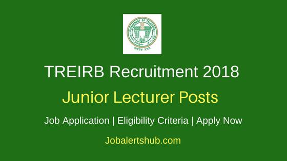 TREIRB Junior Lecturer Job Notification