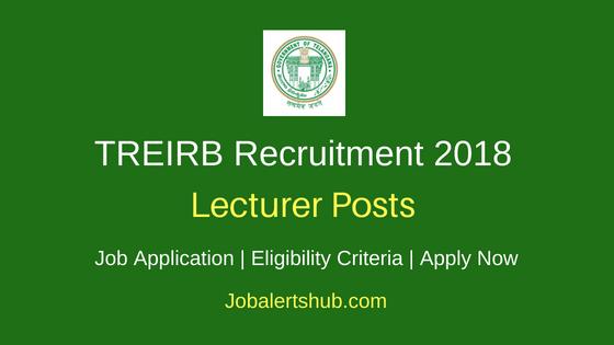 TREIRB Lecturer Recruitment Notification