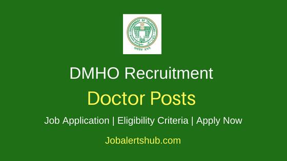 TS DHMO Doctor Job Notification