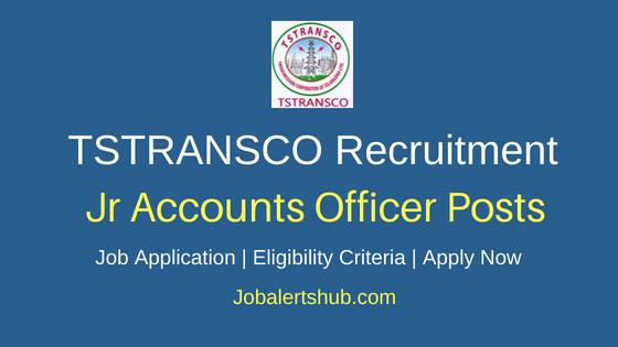 TSTRANSCO Junior Accounts Officer Job Notification