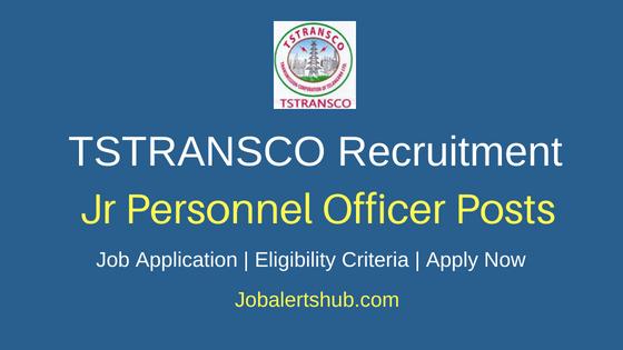 TSTRANSCO Junior Personnel Officer Job Notification