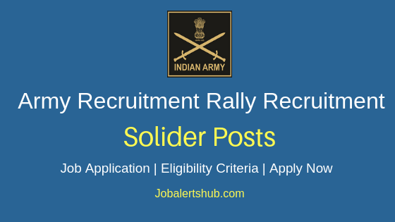 Army Recruitment Rally Solider Job Notification