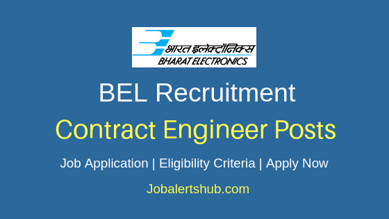 BEL Contract Engineer Job Notification