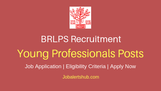 BRLPS Young Professionals Job Notification