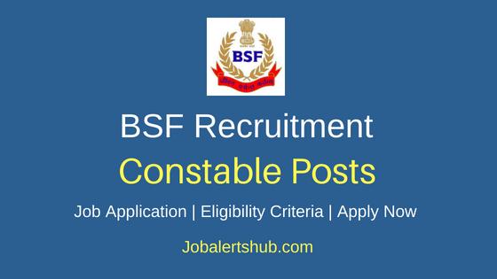 BSF Constable Job Notification