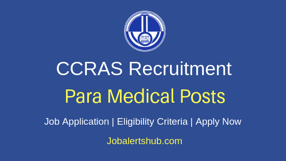 CCRAS Paramedical Job Notification