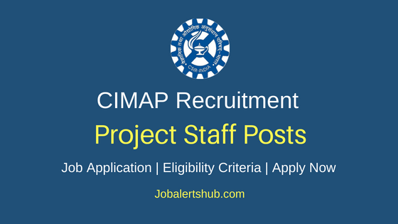 CIMAP Project Staff Job Notification