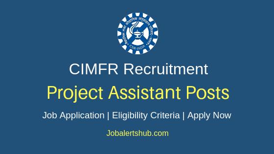 CIMFR Assistant Job Notification