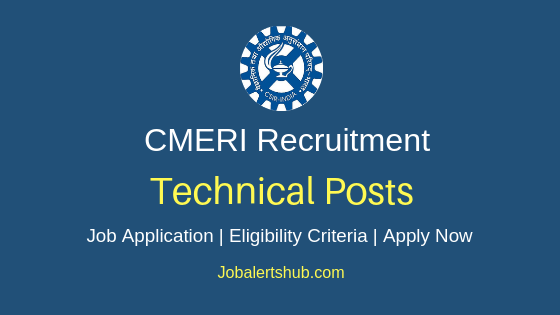CMERI Technical Job Notification