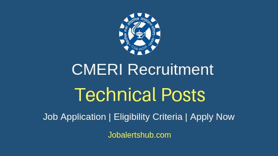 CMERI Technical Job Notification