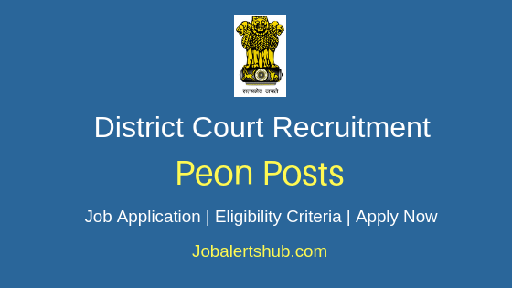 District Court Peon Job Notification