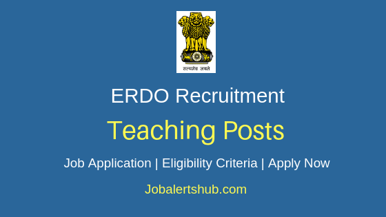 ERDO Teacher Job Notification