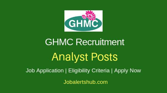 GHMC Analyst Job Notification
