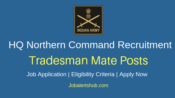 HQ Northern Command Tradesmate Job Notification